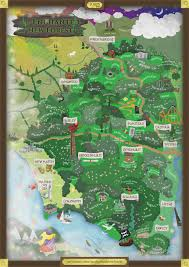 Stone Age World Map by The Enchanted New Forest A Magical Map By Jurys Inns