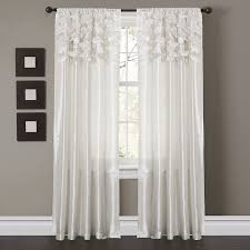 Picture Window Drapes Amazon Com Lush Decor Circle Dream Window Curtain Panels White