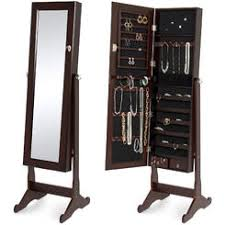 Armoire With Mirrored Front Jewelry Armoires Jewelry Cabinets Sears