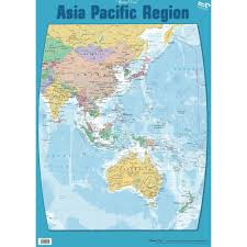 Pacific Region Map Zecc915 Chart Asia Pacific Region Map Double Sided