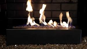 golden blount alpine linear gas fireplace burner with copper