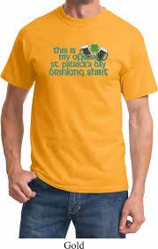mens st patrick u0027s day shirt my official drinking shirt tee t shirt