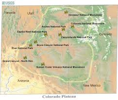 Capitol Reef National Park Map Colorado Plateau Field Course U2013 Palomar College Geology