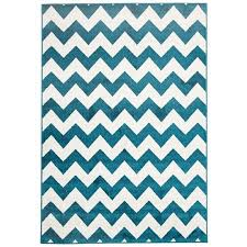 Zig Zag Outdoor Rug with Zig Zag Egyptian Made Indoor Outdoor Rug In Peacock Blue