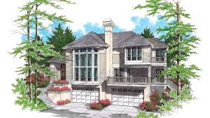 Hillside House Plans For Sloping Lots by Front Sloping Lot House Plans