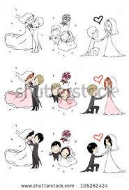 lovely bride groom 3 actions 3 stock vector 105262424 shutterstock