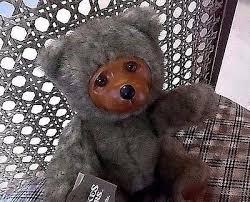 Wooden Faced Teddy Bears Vintage Raikes Bears Sally Bear 17007 Carved Wood Face Teddy Bear
