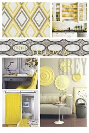 home decor yellow and gray bedroom white black curtains walls with