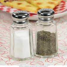 Salt And Pepper Shakers Diner Salt And Pepper Shakers In Glass Vintage Kitchen Decor