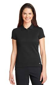 nike blankstyle nike golf 746100 ladies dri fit solid icon pique modern fit polo