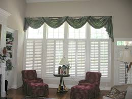 Window Scarves For Large Windows Inspiration Wooden Curtain Box Designs Window Swags Ideas Bedroom Inspired