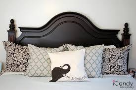 Black Studded Headboard Stunning Bedroom Decoration Using Light Cream Studded Headboard