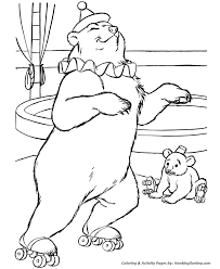 Circus Animal Coloring Pages Printable Performing Trained Circus Circus Coloring Page