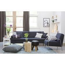 canapé contemporain tissu 3 places noah design gris clair gris