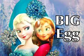 frozen giant surprise egg huge elsa super huge surprise video