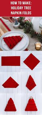 how to make table napkins how to fold christmas tree napkin diy tag diytag pinterest