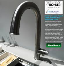 kohler faucets kitchen sink kohler sensate touchless sink faucets for kitchen