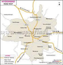 map in road hyderabad road map telangana