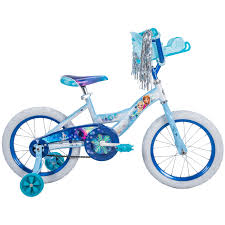 frozen power wheels sleigh girls 16 inch huffy disney frozen bike with sleigh carrier toys
