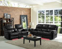 Recliner Living Room Set Classic Flynn 2 Power Reclining Living Room Set In Premier Black