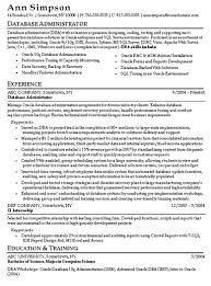 oracle dba resume oracle database administrator resumes templates franklinfire co