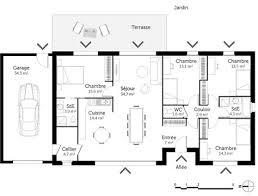 plan de maison 4 chambres gratuit delightful plan maison de plain pied 4 chambres 8 maison en l
