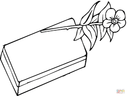chocolate and rose coloring page free printable coloring pages