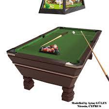 Pool Table Billards 3d Model Vr Ar Ready Cgtrader
