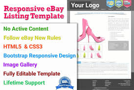 ebay template design design responsive ebay template no active content by irfan33
