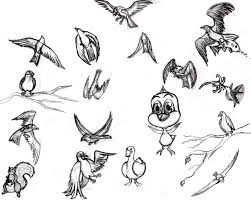 easy bird drawings home design simple of birds litle pups