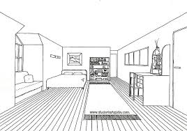 draw room living room sketch one point perspective living room design ideas