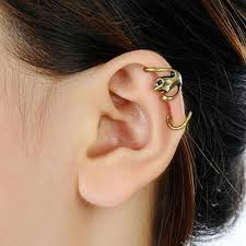 earrings on top of ear 2018 2017 new top quality vintage copper gecko ear cuff for women
