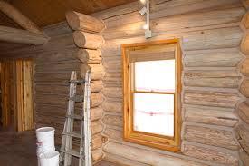 Interior Log Homes Log Home Restoration Colorado