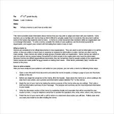 Memo Template Free Sle Memo Template 10 Free Documents In Pdf