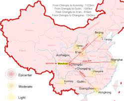 Guilin China Map by Torah Codes China Wenchuan Earthquake