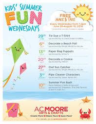 a c moore u0027s summer fun wednesdays free craft program announced
