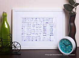 Tv Show Apartment Floor Plans Mad Men Tv Show Floor Plan Blueprint Poster Art For