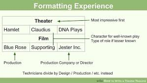 Resume For Movie Theater Job by How To Write A Theater Resume 13 Steps With Pictures Wikihow
