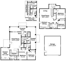 Multi Family Home Floor Plans Country Craftsman Home With 5 Bedrms 2288 Sq Ft Plan 108 1543