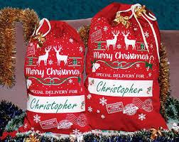 personalized santa sack santa sack etsy