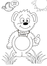follow bear list colouring ins