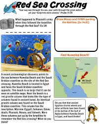 free bible activities for kids red sea worksheets and child