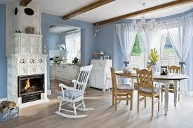 country home interior blue and white country home in poland interior design files