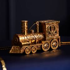 gold train christmas tree decoration by the christmas home