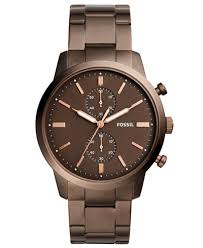 bracelet fossil images Fossil men 39 s chronograph townsman brown stainless steel bracelet tif