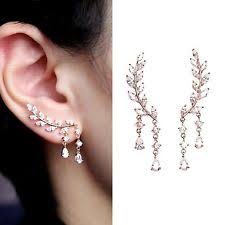 earring cuffs feather ear cuff earrings ebay