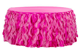 Pink Table Skirt by Curly Willow 14ft Table Skirt Fuchsia New Tone Cv Linens