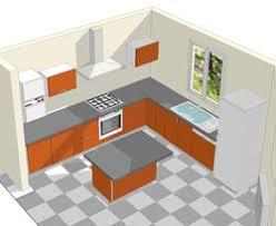 plan cuisine l plan de cuisine en l avec ilot central cuisine en image