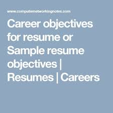 Sample Job Objectives For Resumes by Best 10 Career Objectives For Resume Ideas On Pinterest Career