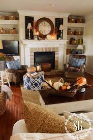 ideas to decorate a living room fall house tour house tours wooden shutters and house